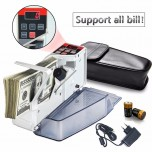 Mini Portable Handy Money Counter for most Currency Note Bill Cash Counting Machine EU-V40 Financial Equipment