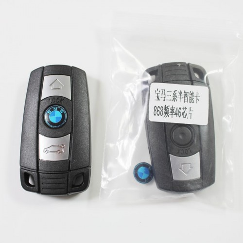 BMW 3 Button CAS 868MHZ With ID46 Chip Keyless Entry