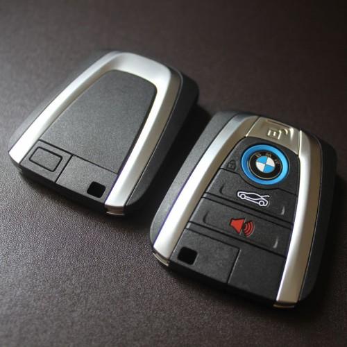 Original Bmw I8 Fem Smart Remote 434mhz 4 Button With Uncut Insert Key